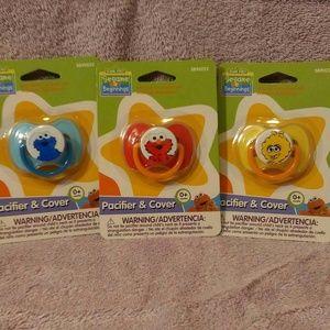 (3) Sesame Street Baby Pacifiers